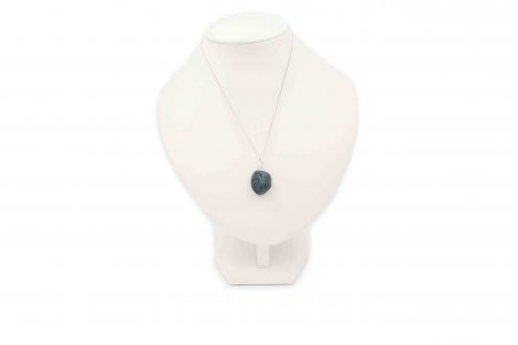 """Blue Apatite """"Tumbled"""" Sterling Silver Pendant - Crystal Dreams"""