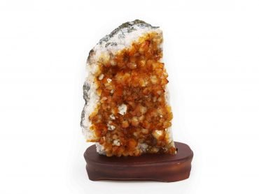 Citrine Druzes Wooden Base - Crystal Dreams