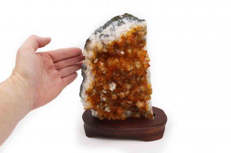 Citrine Druzes Wooden Base - Crystal Dreams