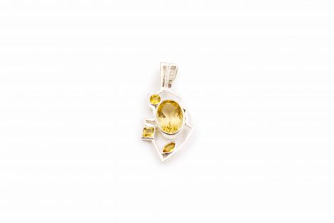 "Citrine ""Thunder"" Sterling Silver Pendant - Crystal Dreams"