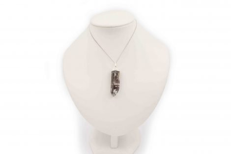 Clear Quartz With Inclusions Pendant Sterling Silver - Crystal Dreams