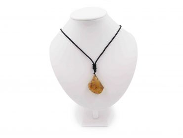 Rough Amber Necklace Pendant - Crystal Dreams