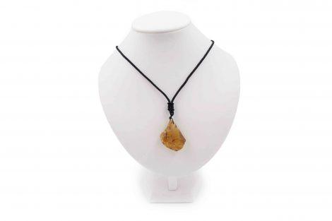Rough Amber Necklace Pendant - Crystal Dreams