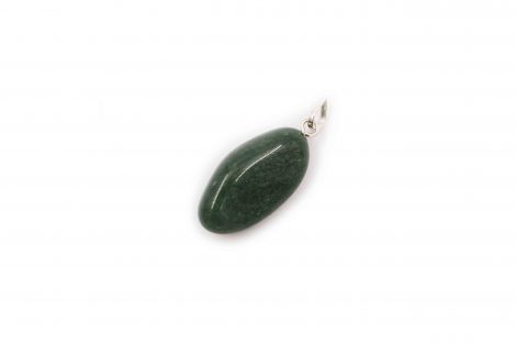 Green Aventurine Tumbled Pendant Sterling Silver- Crystal Dreams