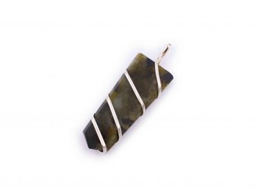 Labradorite flat spiral pendant india - Crystal Dreams
