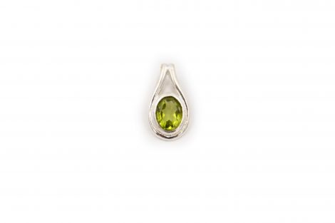 "Peridot ""Gem"" Sterling Silver Pendant - Crystal Dreams"