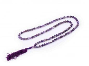 Mala Amethyst Beads Necklace - Crystal Dreams