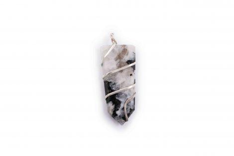 Moonstone flat spiral pendant- Crystal Dreams