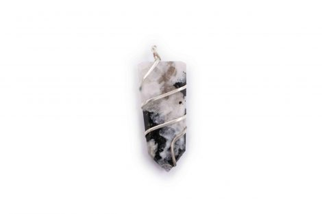 Moonstone flat spiral pendant- Crystal Dreams