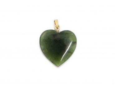 Nephrite Jade Heart Pendant - Crystal Dreams