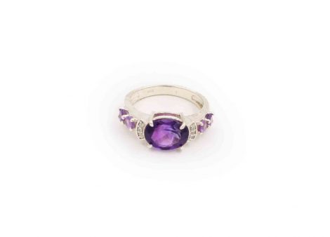 Prestige Amethyst Sterling Silver ring-Crystal Dreams