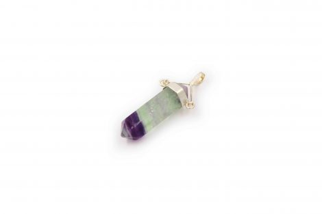 "Rainbow Fluorite ""Swivel"" Pendant Sterling Silver - Crystal Dreams"