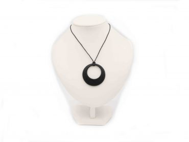 Shungite Pendant Circle Within a Circle - Crystal Dreams