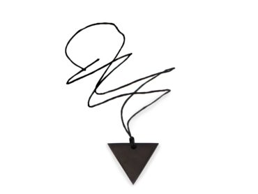 "Shungite ""Female"" Triangle pendant - Crystal Dreams"