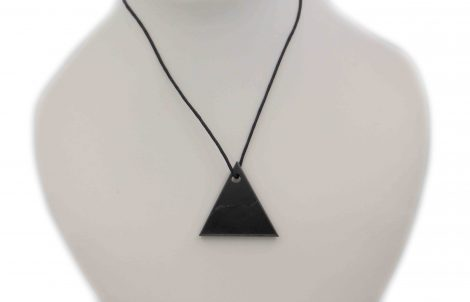 "Shungite ""Male"" Triangle Pendant - Crystal Dreams"