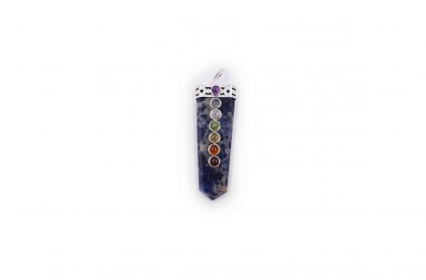 Sodalite seven chakras pendant - Crystal Dreams