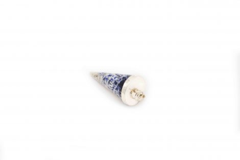 Sodalite Cone Pendant Silver- Pendant