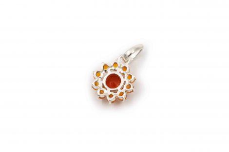 Carnelian Star Sterling Silver Pendant