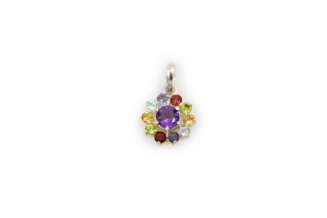 "Chakra stones ""Star"" Sterling Silver Pendant - Crystal Dreams"