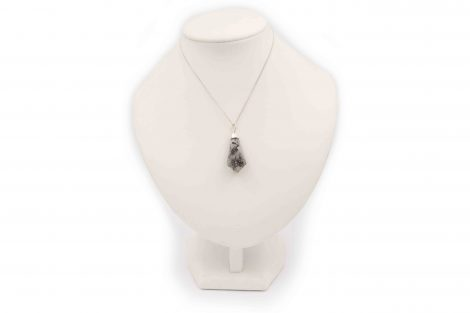 """Tourmalinated Quartz """"RG"""" Point Pendant Sterling Silver - Crystal Dreams"""