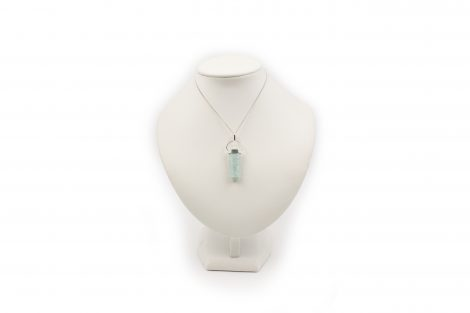 "Amazonite ""Double Point"" Pendant in Sterling Silver- Crystal Dreams"