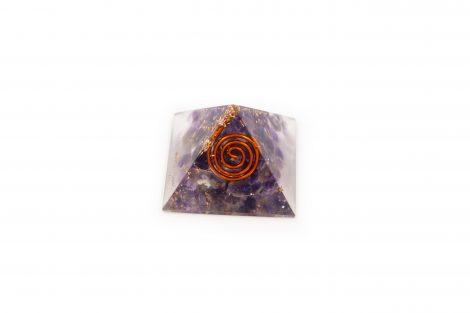 Amethyst Orgonite Pyramid (S) - Crystal Dreams
