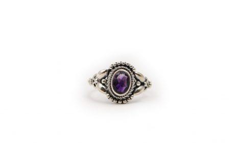 Amethyst Big Drop Sterling Silver Ring - Crystal Dreams