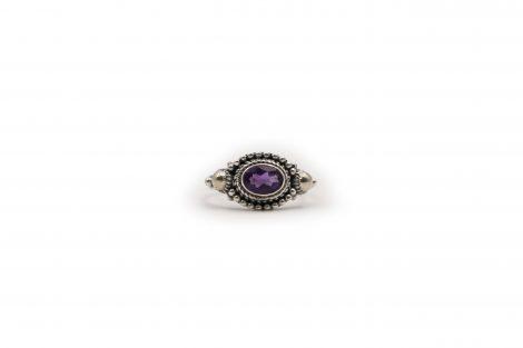 Amethyst Curtail Ring In Sterling Silver - Crystal Dreams