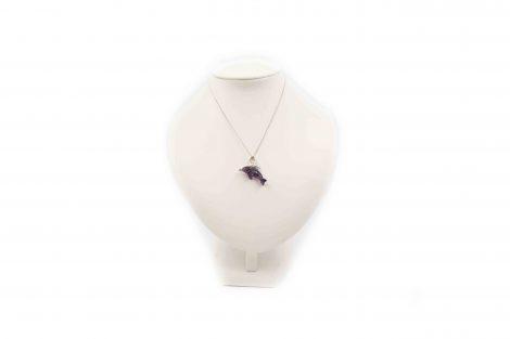 Amethyst ''Dolphin'' Pendant Sterling Silver- Crystal Dreams