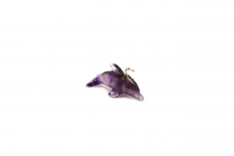 Amethyst ''Dolphin'' Pendant Sterling Silver
