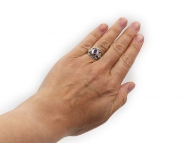"Amethyst ""Dot"" Ring- Crystal Dreams"