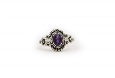 "Amethyst ""Ecliptic"" Sterling Silver Ring- Crystal Dreams"