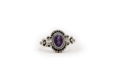 "Amethyst ""Ecliptic"" Sterling Silver Ring- Crystal Dreams"