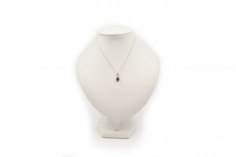 "Amethyst ""Oval"" Pendant in Sterling Silver (XS)- Crystal Dreams"
