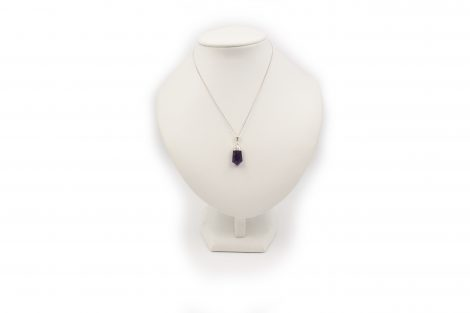 """Amethyst """"Polished Point"""" Pendant Sterling Silver- Crystal Dreams"""