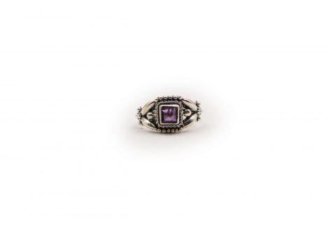"Amethyst ""Squared"" Sterling Silver Ring - Crystal Dreams"