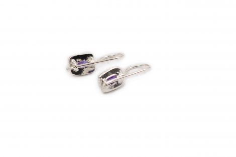 Amethyst Earrings in Sterling Silver- Crystal Dreams