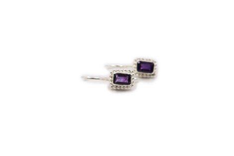 Amethyst Earrings in Sterling Silver- Crystal Dreams