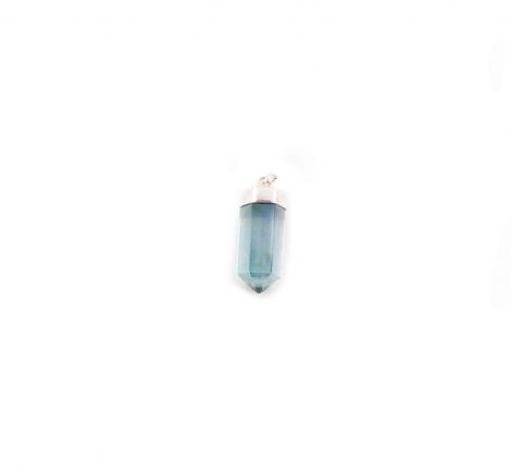 "Aqua Angel Aura ""Polished Point"" Pendant Sterling Silver- Crystal Dreams"
