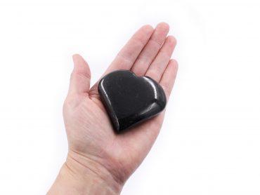 Black Tourmaline Puffy Heart - Crystal Dreams
