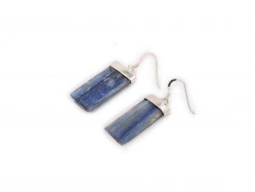 """Blue Kyanite """"Rough"""" Earrings in Sterling Silver- Crystal Dreams"""