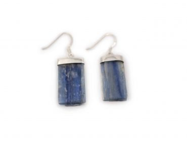 "Blue Kyanite ""Rough"" Earrings in Sterling Silver- Crystal Dreams"