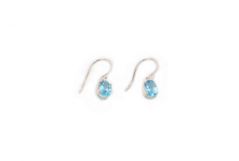 Blue Topaz Sterling Silver Earrings- Crystal Dreams