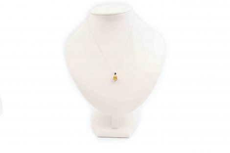 Citrine Sterling Silver Round Pendant- Crystal Dreams