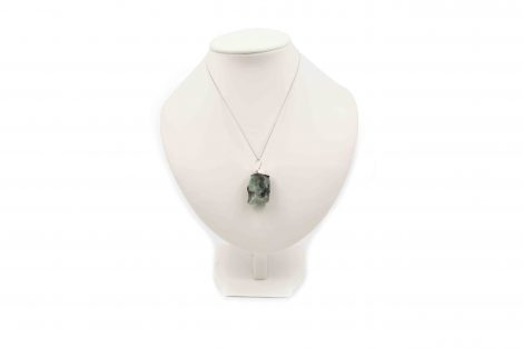 Emerald Rough Pendant Sterling Silver - Crystal Dreams