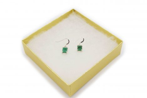Emerald Sterling earrings Sterling Silver - Crystal Dreams