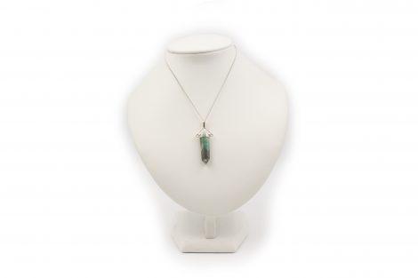 "Emerald ""Swivel"" Pendant Sterling Silver- Crystal Dreams"