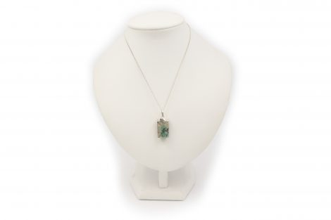 "Emerald ""Hexagon"" Pendant Sterling Silver- Crystal Dreams"