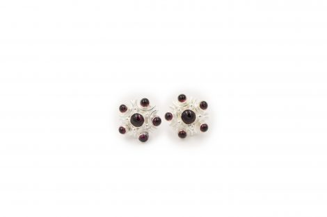 Garnet Sterling Silver Earrings - Crystal Dreams