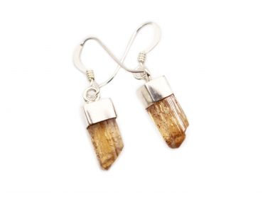 Imperial Topaz Sterling Silver Earrings - Crystal Dreams